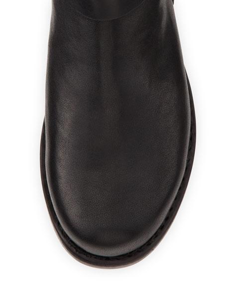 Flat Moto Boot, Black