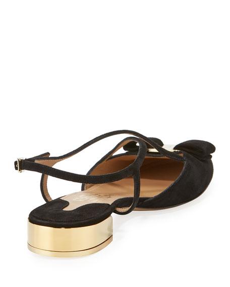 Strappy Suede Sandal, Black (Nero)