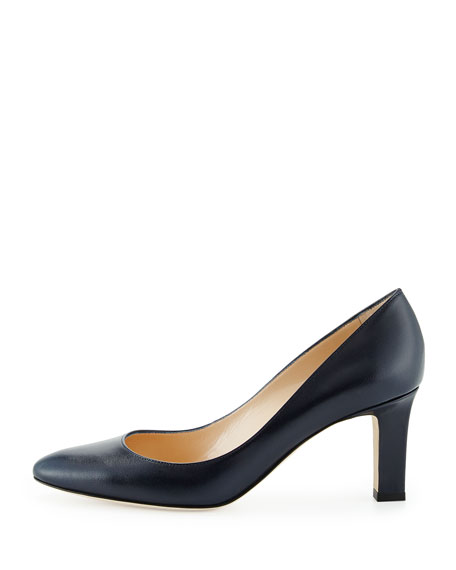 Lisaqua Leather Almond-Toe Pump