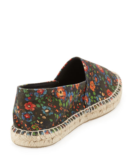 Cana Floral-Print Espadrille Flat, Multi