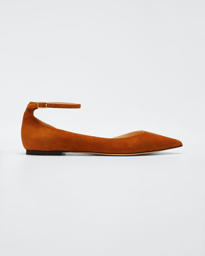 Lucy Suede Half-d'Orsay Flat  Canyon