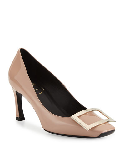 Trompette Patent Leather Pumps, Nude