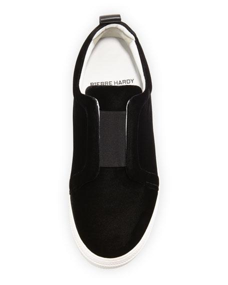 Velvet Slider Sneakers
