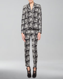 Akris punto Crosshatch-Print Jacket & Crosshatch-Print Pants