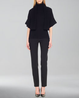 Michael Kors  Rib-Trim Open Shrug, Rib-Trim Sleeveless Turtleneck & Samantha Skinny Pants