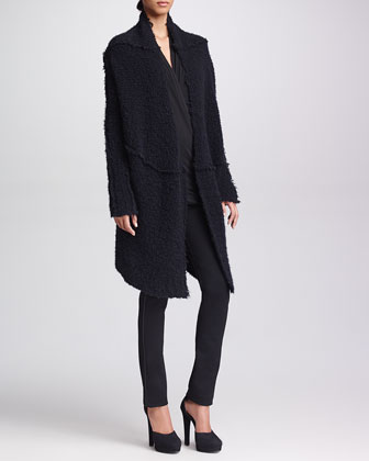 Cozy Boucle Jacket, Double-Layer Jersey Tunic & Slim Straight-Leg Pants