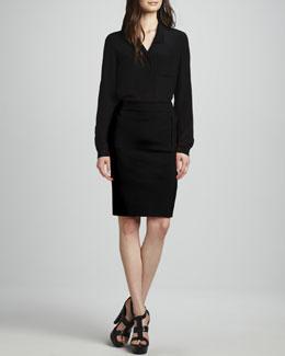 Diane von Furstenberg Lorelei Button-Front Top & New Koto Skirt