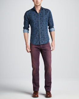 Etro Paisley Denim Shirt & Dyed Denim Jeans