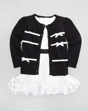 Milly Minis Ribbon Bow Cardigan & Marion Dress