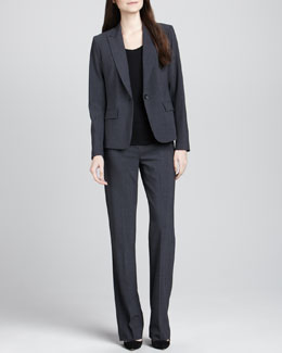 Theory Gabe 2 One-Button Blazer, Juin 2 Short-Sleeve Tee & Max 2 Suit Pants