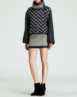 Rag & Bone Oversized Mixed-Knit Pullover, Becca Ribbed Top & Kensington Printed Skirt
