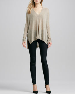 Vince Seamed V-Neck Top & Riley Leggings