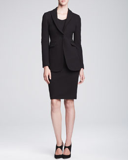 Armani Collezioni Peaked-Lapel Jacket & Pencil Skirt