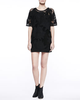 Isabel Marant Etoile Caty Floral-Lace Minidress & Sammy Sleeveless Tank Dress