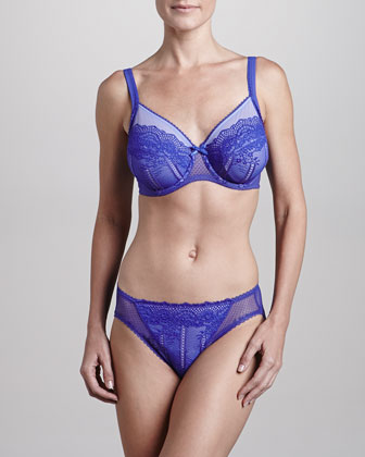 Enchantment Underwire Bra & Hipster Panties, Royal Blue