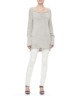 Donna Karan Long-Sleeve Knit Sweater and Pull-On Leggings