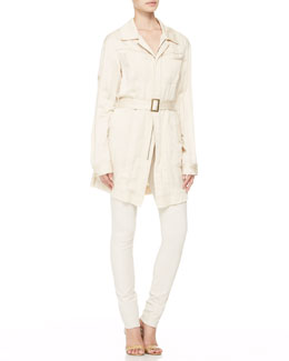 Donna Karan Belted Trench Shirt-Jacket, Asymmetric-Band Tank & Pull-On Leggings