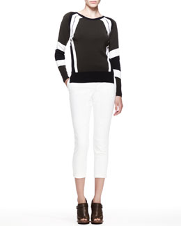Belstaff Banham Racing Stripe Sweater and Marston Cropped Twill Pants