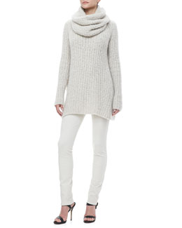 Donna Karan Knit Tunic Sweater, Pull-On Leggings & Cashmere-Silk Cowl