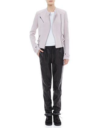 Malto Cotton Jacket, Cotton Muscle Tank & Tony Drawstring Leather Pants
