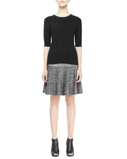 MARC by Marc Jacobs Tomoko Textured Knit Sweater & Jen Fluted Sweater Skirt