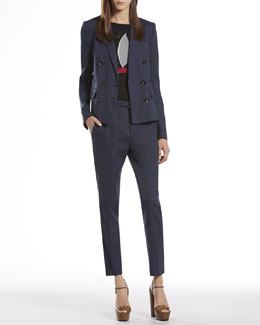 Gucci Double-Breasted Jacket, Sailboat Intarsia Cashmere Sweater & Holiday Pants