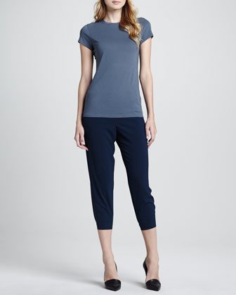 Short-Sleeve Jersey Tee & Jersey Cropped Pants