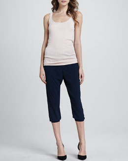 Vince Ribbed Favorite Tank & Jersey Cropped Pants