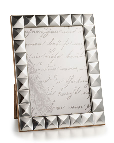 "Sterling Silver Pyramid 5"" x 7"" Frame"