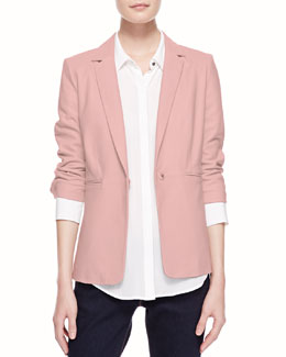 Elizabeth and James James Relaxed Leather Blazer & Archie Long-Sleeve Blouse