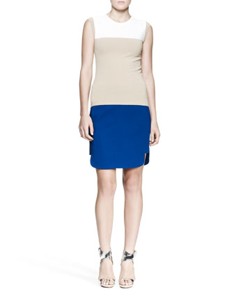 Gilmore Cap-Sleeve Sweater and McKay Short-Side Skirt