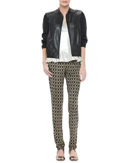 Nanette Lepore Star Gazing Jacket, Whistle Top & Suhtai Tapered Leg Pants