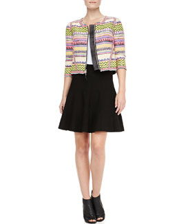 Milly Raffia Raw Edge Jacket & New Mexico Delilah Skirt