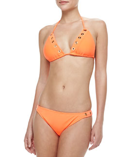 Milly Laluna Grommet Bikini Top & Swim Bottom