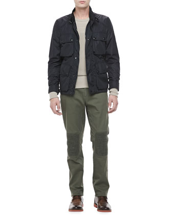 Lightweight Field Jacket, Hartford Biker Pants & Multi-Texture Crewneck Pullover