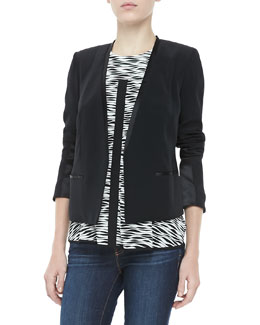 Elizabeth and James Bryant Crepe Open Jacket & Evie Printed Silk Top