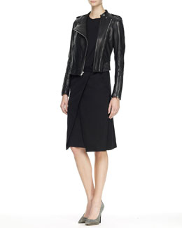 Theory Kayanna Kapture Dress and Katiana Cropped Leather Jacket