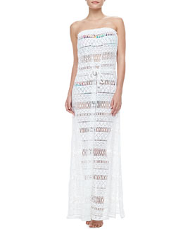 Milly Pahala Crochet Maxi Dress, Elsie Bay U-Wire Bandeau Top & Swim Bottom
