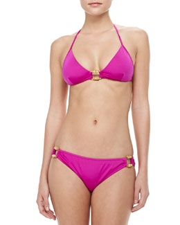 Milly Antibes Ring Halter Swim Top & Antibes Ring-Side Bottom