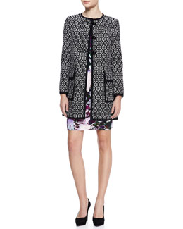 Nanette Lepore Young Love Patterned Coat & Forbidden Love Floral-Print Dress