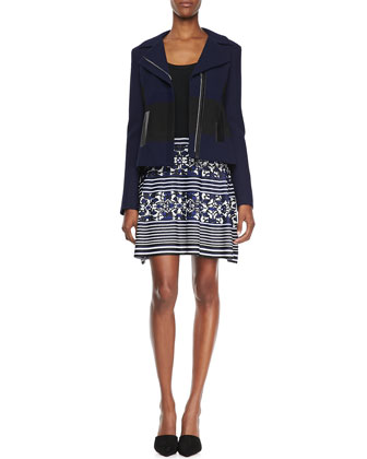 West Coat Two-Tone Jacquard Jacket & Ride The Wave Combo Dress
