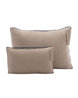 Linen Pillow with Satin Insert, Royal