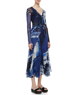 Jean Paul Gaultier Short Printed Wrap Cardigan & Long Printed Dress