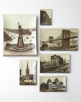 John Derian New York City Landmark Decoupage Trays