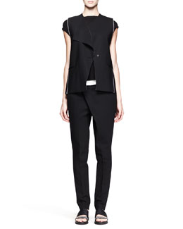 Helmut Lang Pierce Origami Vest and Pants & Faint Cap-Sleeve Tank