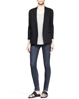 Helmut Lang Quell Jersey Boyfriend Blazer, Kinetic Jersey Tee & Wren Pull-On Legging Jeans