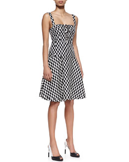 Diane von Furstenberg Avalon Diamond-Print Sleeveless Corset Top & Amelia Mikado Skirt