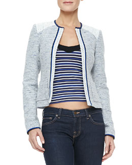 Nanette Lepore White Sands Tweed Jacket & Harbor Top
