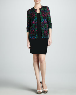 M Missoni Ikat Knit Cardigan, Zigzag Tank & Double-Knit Space-Dye Skirt
