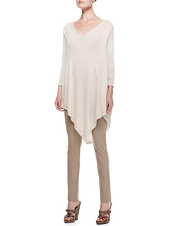 Donna Karan 3/4-Sleeve Draped Poncho Top & Straight Leg Body II Pants